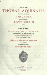 Summa Theologiae (Pars prima), Tomàs d'Aquino