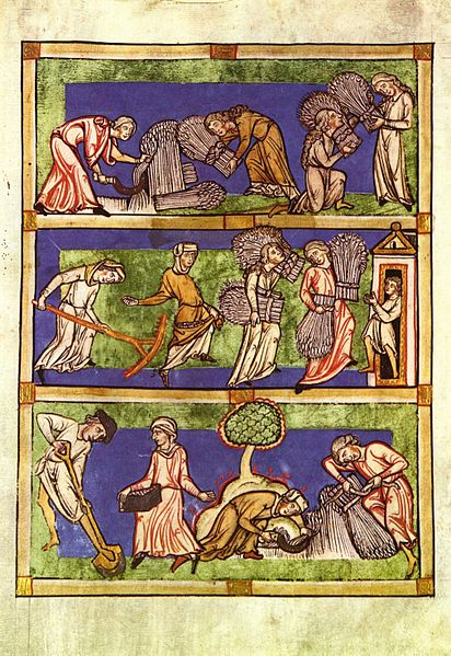 """Les tres condicions de les dona"" a Speculum Viriginum ms., late 13th or early 14th century, Rheinisches Landesmuseum No. 15326"