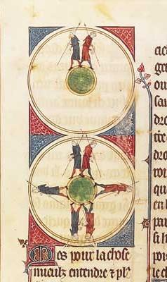 Gossuin de Metz; L'image du monde. BNF Fr. 574 fol. 42