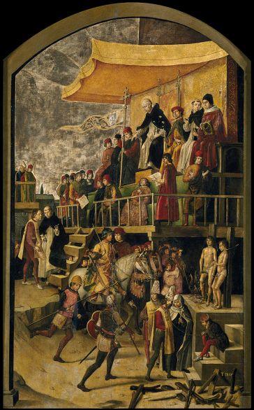 Auto de Fe, Pedro Berruguete, 1495